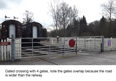 photo of a gated level crossing