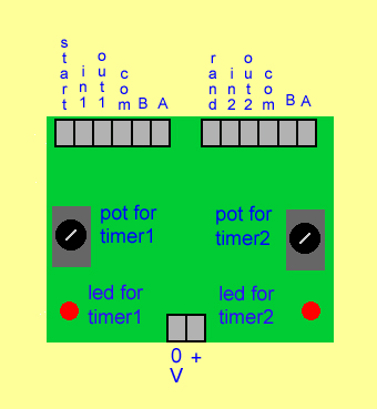 dual timer board terminal arrangement note rand for random timing
