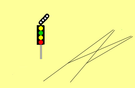 feather route indicator at junction