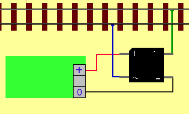 A brige rectifier turns the alternating current to a DC voltage suitable for powering heathcote products.