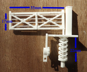 dimensions for oo gauge level crossing gate