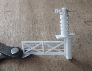 motorised model railway level crossing gate
