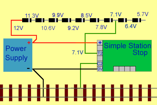 wiring for Station stop with starter signal for analogue and DCC