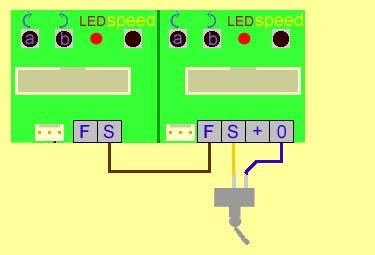 Wiring for one switch to control a sequence of two or more servo motors movement